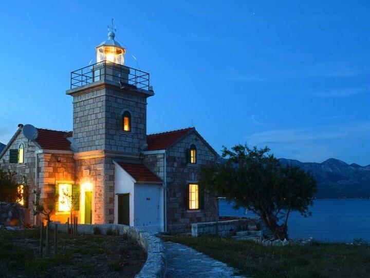 Fari e case dei pescatori in Croazia