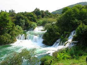fiume Krka - cascate