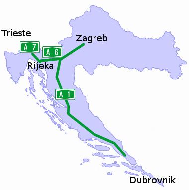 Cartina Stradale Italia Slovenia Croazia.Strade Ed Autostrade In Croazia
