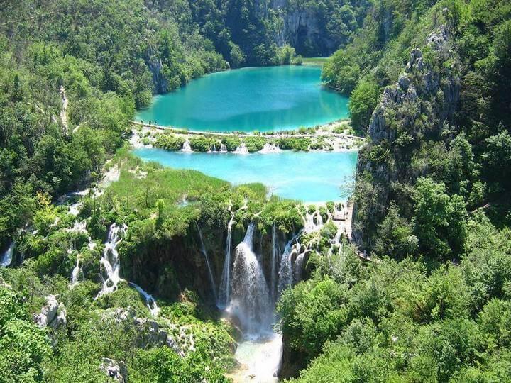 Laghi di plitvice croazia for Disegni di laghi