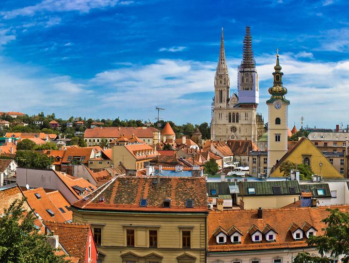 Cartina Zagabria.Zagabria Zagreb